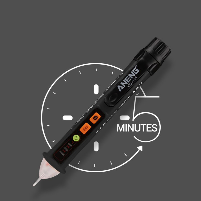 ANENG VD901 AC 12V-1000V Electrical Non Contact Voltage Detector Test Pen Probe Tester black