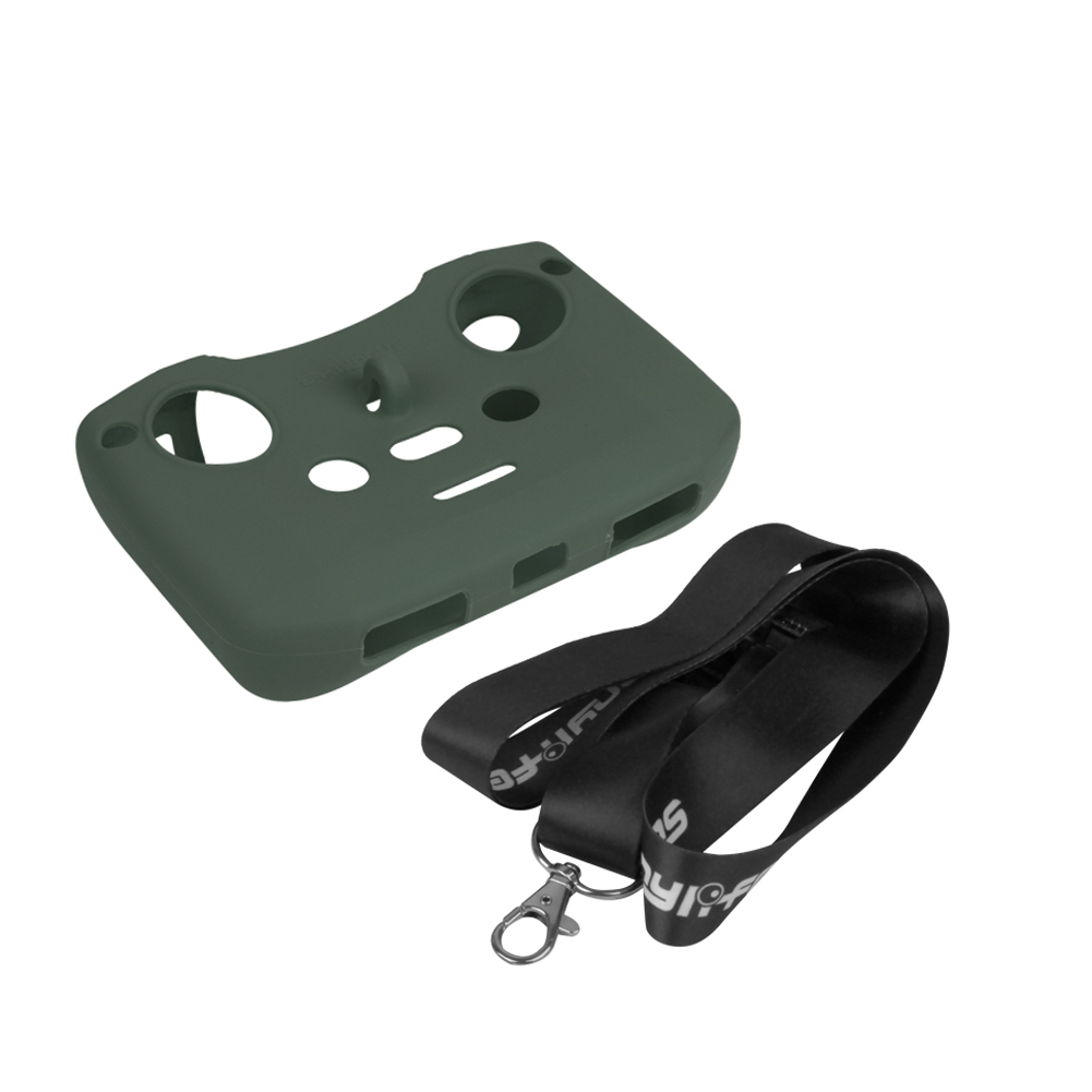 Silicone Protective Cover with Remote Controller Strap Protective Sleeve For DJI Mavic Air 2 Drone Accessories ArmyGreen