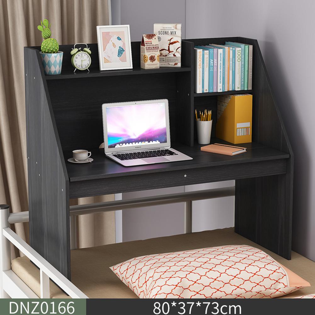 Wooden Computer Table Space Save Hidden Flip Storage Desk for Bed Study  black