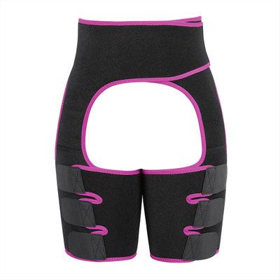Women Thigh Shaper High-Waist Adjustable Leg Slimming Waist Trimmer Wrap Belt Shapewears red_M