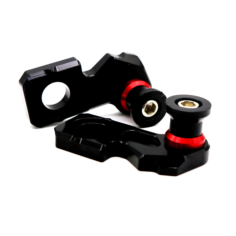 Motorcycle Accessories Modified Parts Chain Adjuster Block With Stand Spool for HONDA CBR650F CB650F/R 14-19 red