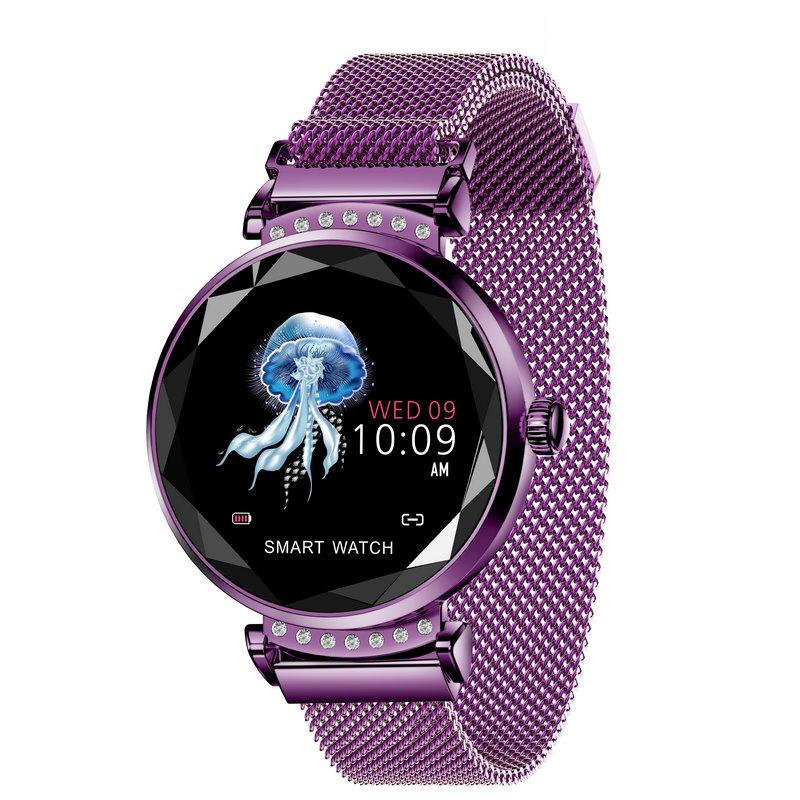 H2 Smart Watch Women Men Fitness Tracker Smart Bracelet Waterproof Heart Rate Monitoring Bluetooth Sport Smartwatch Purple