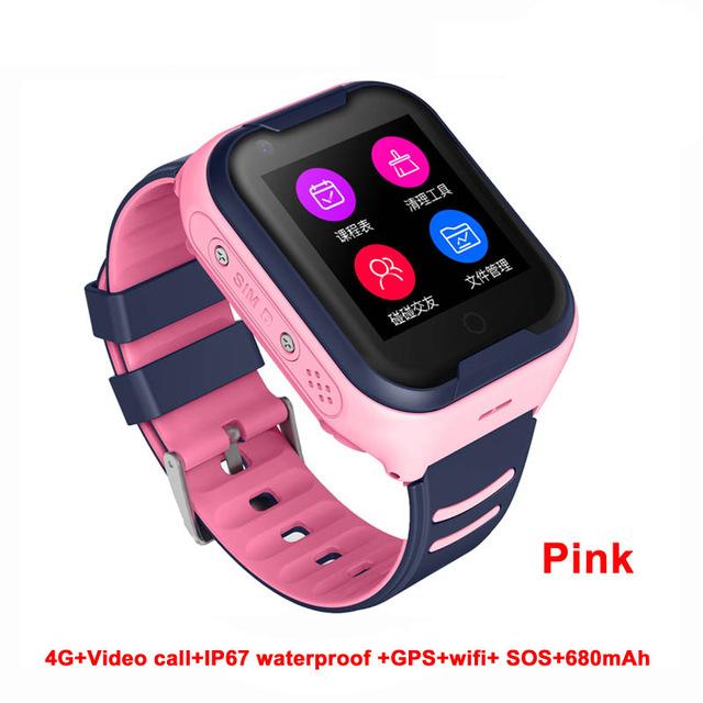 Waterproof 4G Kids Smart Watch Support Bluetooth Connect Pink