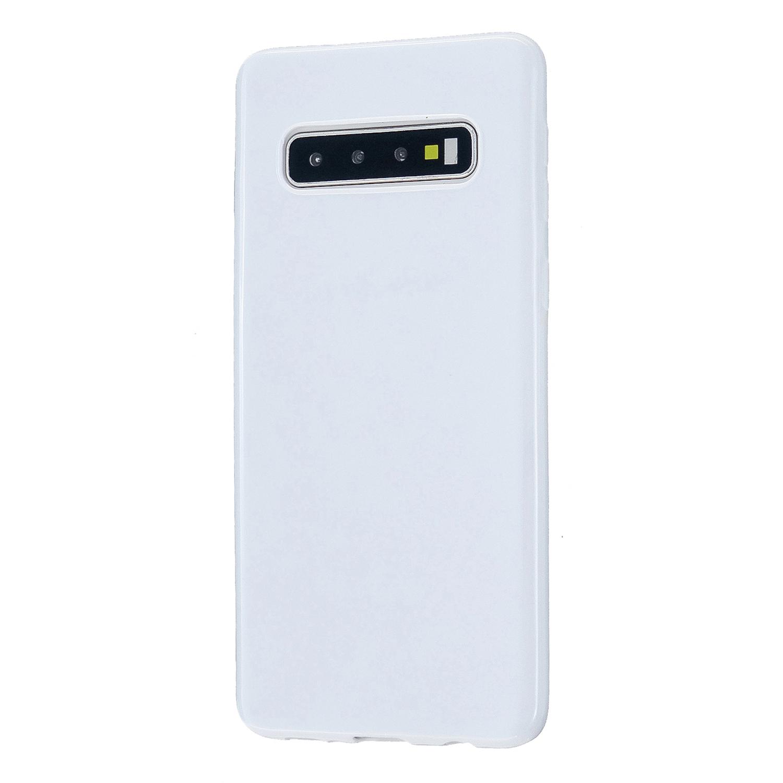 For Samsung S10/S10E/S10 Plus Cellphone Case Precise Cutouts Simple Profile Soft TPU Mobile Phone Shell Milk white