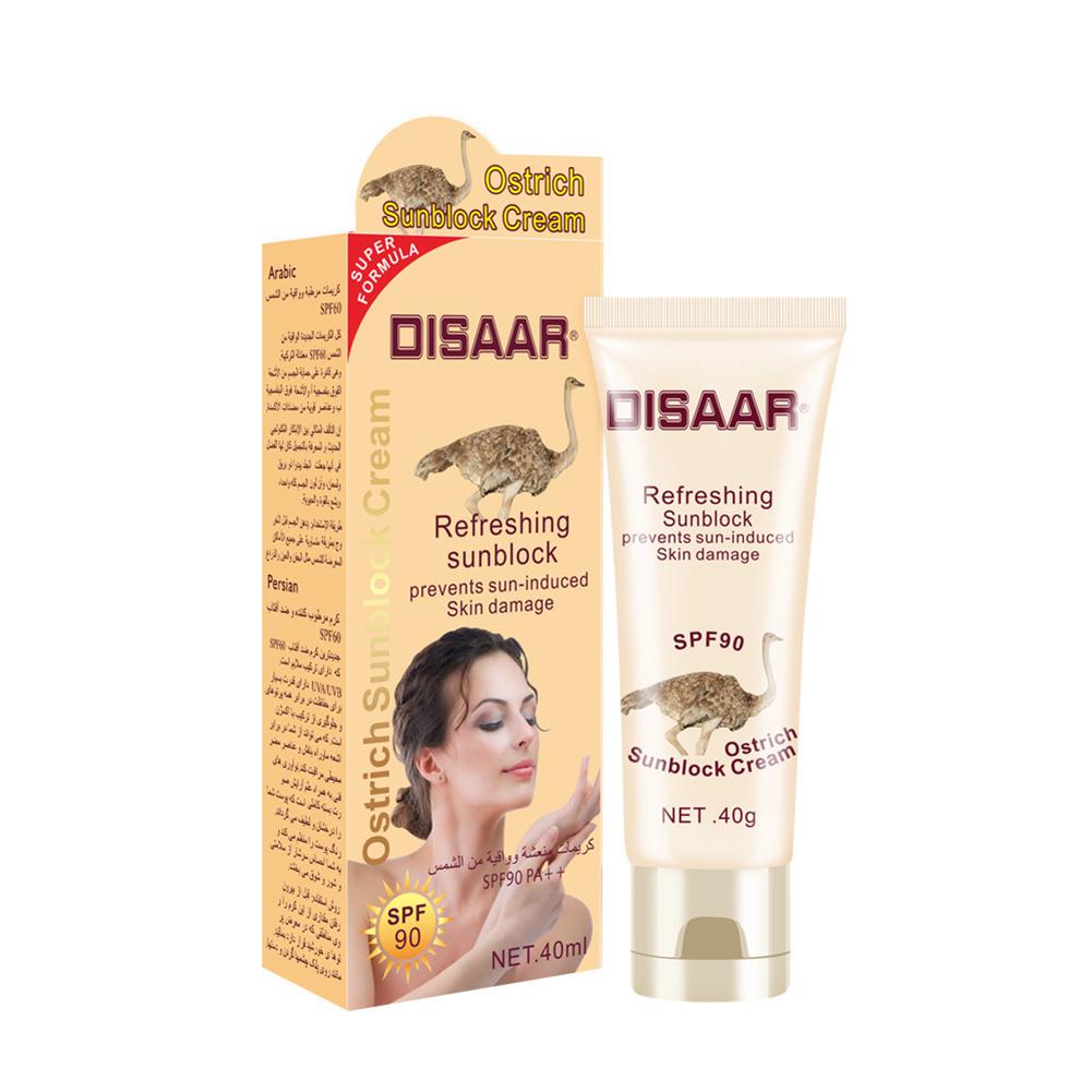 Sunscreen  Cream Moisturizing Isolation Sunscreen Cream Sweatproof Skin Care Cream 40ml ostrich
