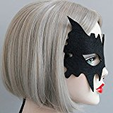 Women Luxury Bat Eyemask Eye Mask Masquerade Venetian Halloween Costume Black Black