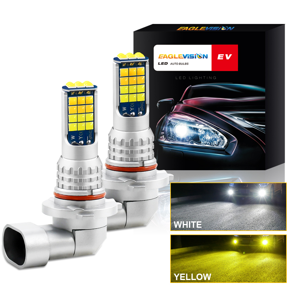 1 Pair Aluminum Car V6 High-brightness Dual-color Fog Lamp Car Light H10