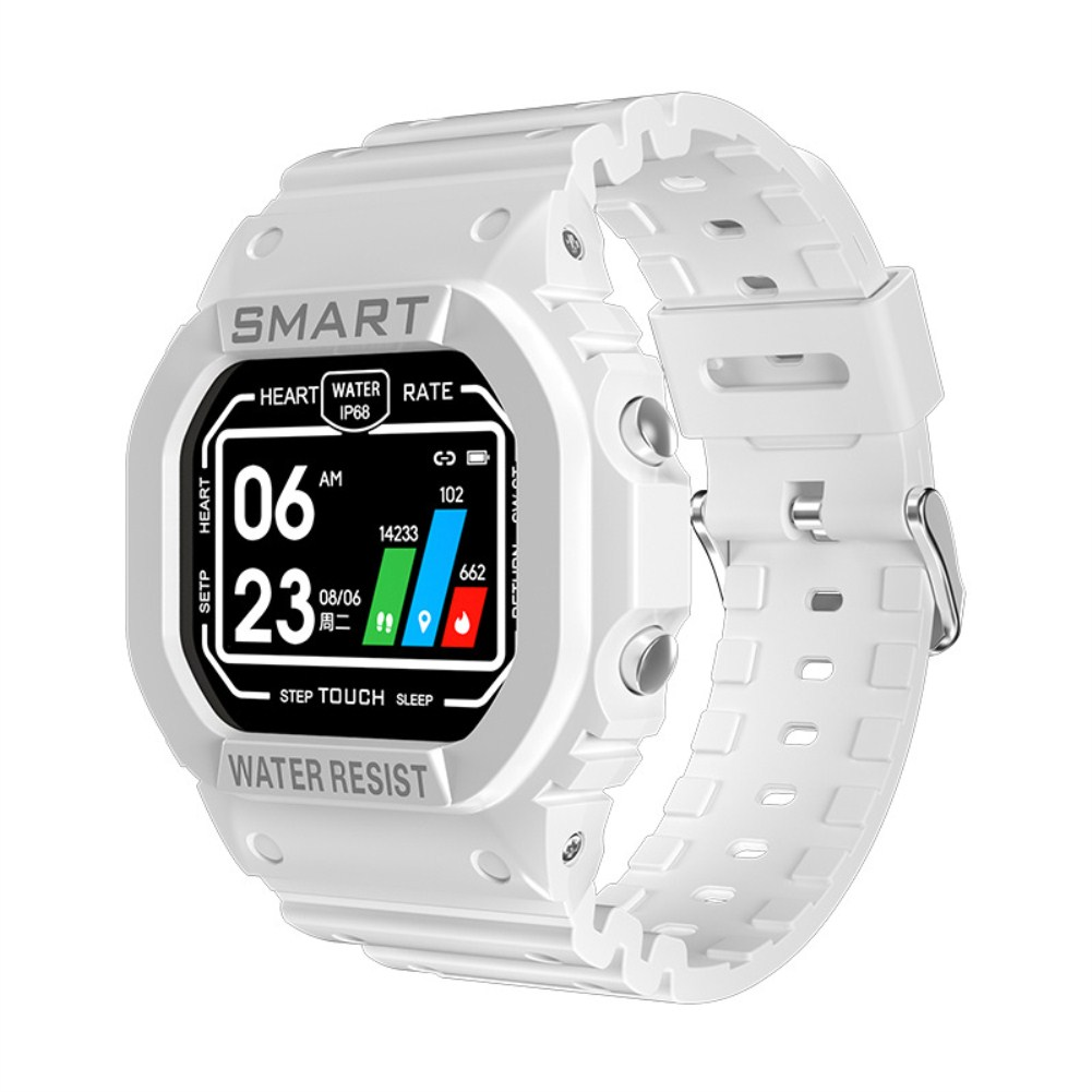 K16 Smart Bracelet Heart Rate Sleep Monitoring Fitness Tracker Waterproof Multifunctional Silicone Watch white