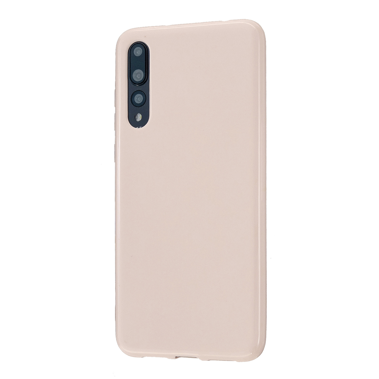 For HUAWEI P20/P20 Lite/P20 Pro Cellphone Case Simple Profile Soft TPU Phone Case Anti-Slip Smartphone Cover Sakura pink